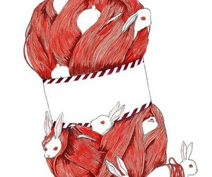 bunny and illustration image