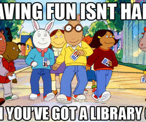 arthur, library, and fun image