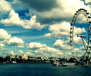 sky, london, and clouds image