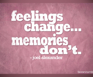 feelings, memories, and text image