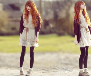 girl, redhead, and style image
