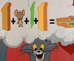 cartoon, childhood, and tom & jerry image