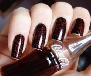 brown, coca cola, and naillpolish image