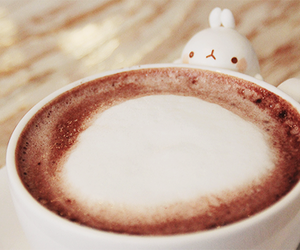 bunny, coffee, and kawaii image