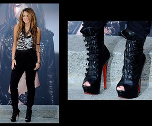 *-*, christian louboutin, and miley cyrus image