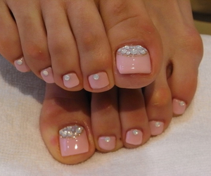 nails, pink, and toes image