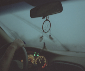 car and dreamcatcher image