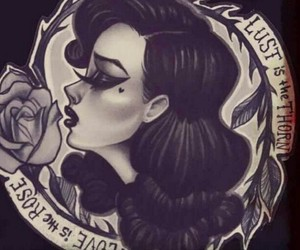 tattoo, lust, and rose image