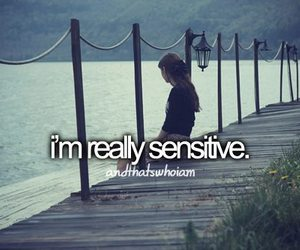 quote, sensitive, and text image