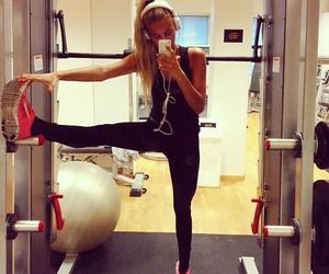 fitness, girl, and blonde image