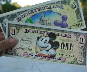 disney, disneyland, and money image