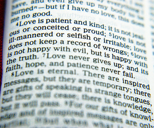 bible, love, and patience image