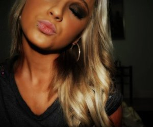 blonde, piercing, and tan image