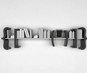 black, bookcase, and love reading image