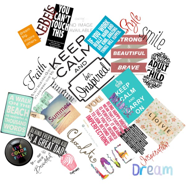 Random Quote collage - Polyvore on We Heart It