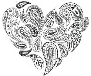 black and white, drawing, and heart image