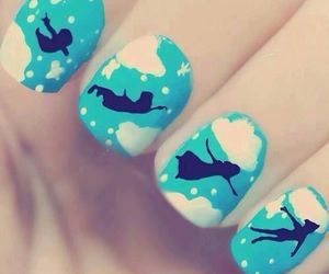nails, peter pan, and blue image
