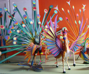 colours, mexico, and alebrijes image