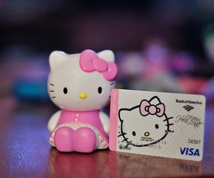 cute, hello kitty, and card image