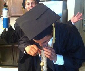 graduation, weed, and bong image