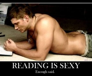 Jensen Ackles, man, and read image