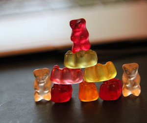 bears, candy, and color image