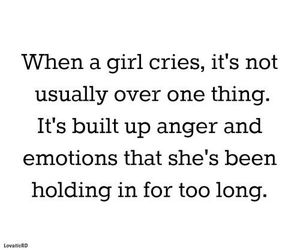 girl, cry, and emotions image