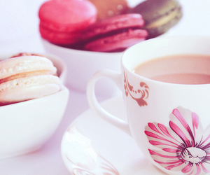 macaroons, pink, and food image
