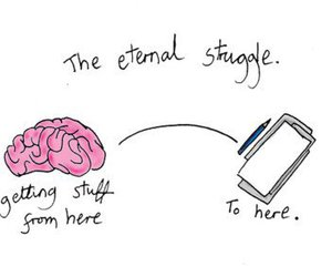 brain, struggle, and Paper image