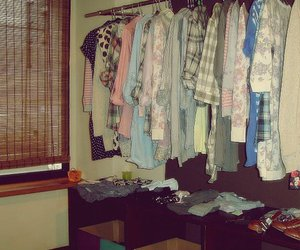clothes, dressing room, and fashion image