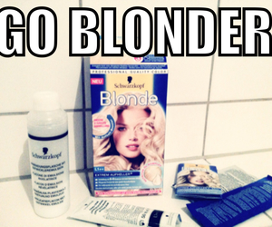 blonde, girl, and go image
