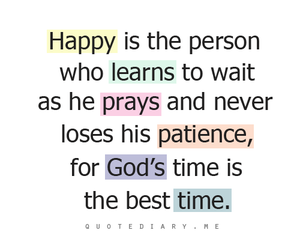 god, patience, and time image