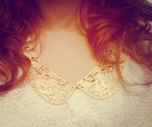 collar, delicate, and lace image