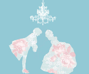illustration, silhouette, and victorian image