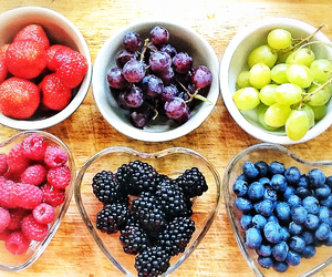 blueberries, grapes, and love image