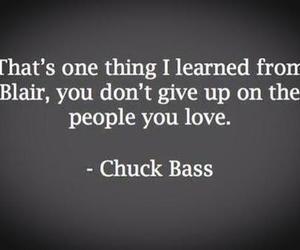 chuck bass, love, and blair image