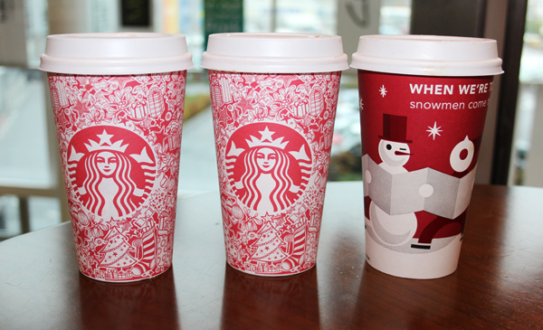 The Starbucks Christmas Cup discovered by Mica