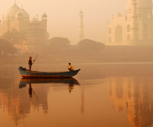 india, travel, and boat image