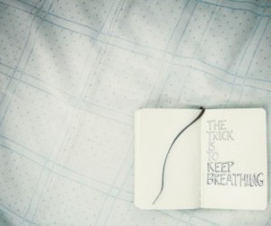 keep breathing, book, and text image