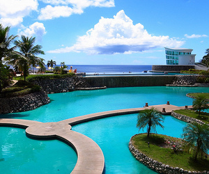 pool, luxury, and blue image