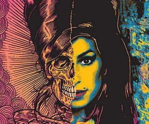 Amy Winehouse, amy, and skull image