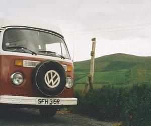 vintage, van, and car image