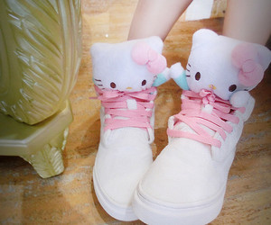 shoes, hello kitty, and kawaii image