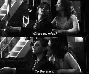 titanic, love, and stars image