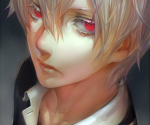 anime, red eyes, and anime boy image