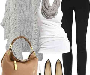 bags, black pants, and outfit image