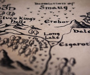hobbit, lord of the rings, and map image