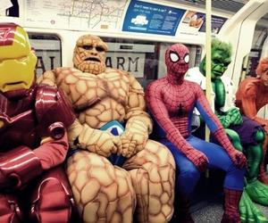 funny, spiderman, and Hulk image