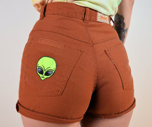 alien, ass, and tattoo image