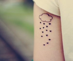 tattoo, clouds, and rain image